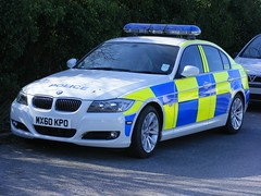 (1009) GMP - Greater Manchester Police -  BMW 3 series saloon - MX60 KPO (Call the Cops 999) Tags: road 3 manchester march police led bmw series greater saloon complex gmp battenburg workshops unit rpu lightbar 2011 policing openshaw mx60kpo