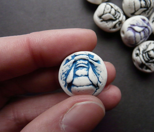Porcelain Bee Beads
