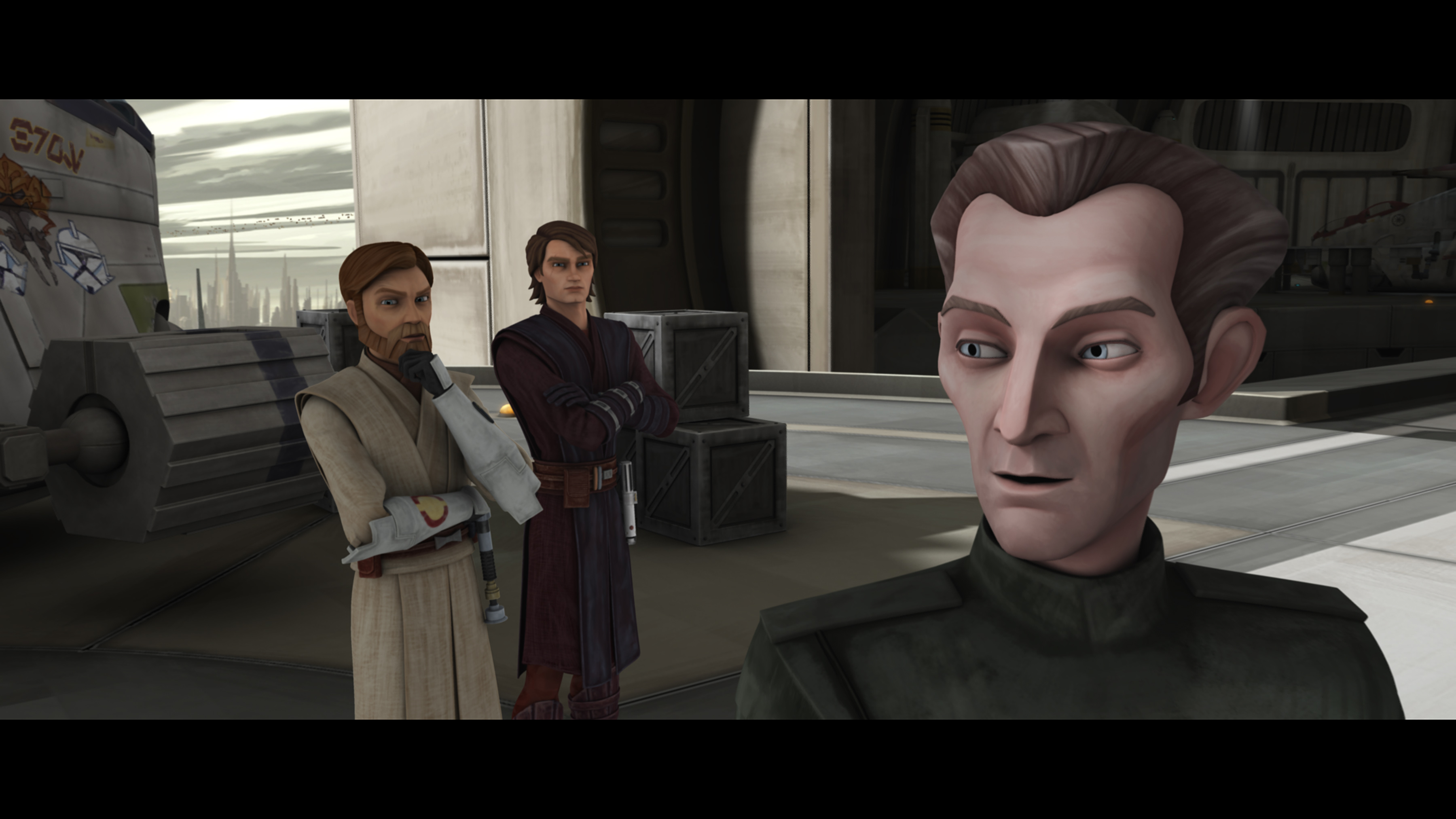 Tarkin, Obi-Wan Kenobi, and Anakin Skywalker