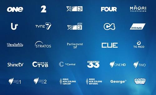 Freeview NZ White Logos