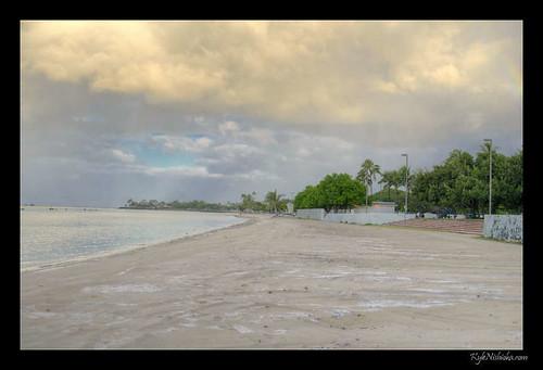 Ala Moana - Tsunami high water line