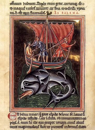 004- Las ballenas folio de un bestiario- hacia el año 1190- Bodleian Library-Oxford