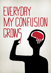 Everyday my confusion grows (Massimo.Calabro) Tags: illustration design blood illustrator draw everyday confusion vector grows illustrazione
