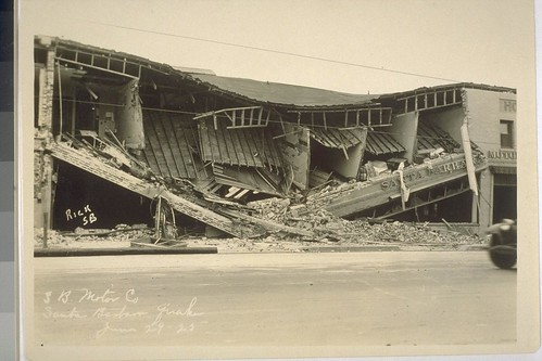 Earthquake Santa Barbara 1925 OAC 2