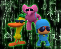 Matrix Pocoyo (Matrix yourself, everything) (Carlos Carreo) Tags: fiction matrix photoshop computer code glow eli mr background smith science filter pato lula zion neo forge tutorial morpheus streaming revolutions generated reloaded valentina pajarito the pocoyo