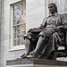 The lying statue of John Harvard