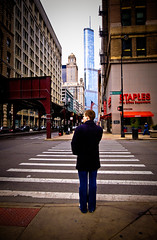 In the Distance (RichardDemingPhotography) Tags: longexposure windows people urban chicago streets brick cars glass stairs canon reflections rust downtown availablelight brokenglass trumptower lakeview canoneos lincolnpark doorways thel fastcars chicagoillinois roscos abandonedfactories cityofchicago canonlglass urbanexplorations tacksharp attentiontodetail northhalstead canoncameras apocalypsedecadence canon1dmarkiv canonworldwide garynutbolt canon1635mmf28seriesiillens canonproshooters urbexexplorers sidewalksinchicago lostforgotten amazingurbex