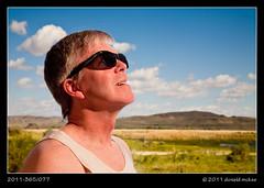 2011-365/077 - Warm (DonMcKee) Tags: lighting light people selfportrait nature ecology sunshine sunglasses fashion composite glasses scenery warm desert land don environment concept conceptual environmentalism selfimage ecosystem concepts project365 strobist dailyshoot 3652011 ds488 2011365mar