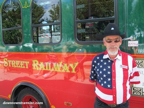 Trolley driver in Cheyenne, Wyoming