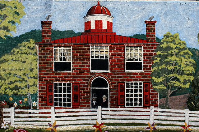 Painting of the Dickson County Courthouse