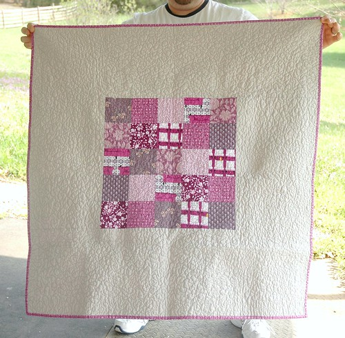 Finished! Purple baby quilt - back