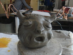 BILD2856 (Lisa Katherine Lenore Brown) Tags: brown art artist lisa gargoyle clay pan