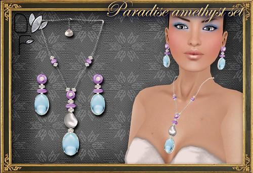 PARADISE turquoise set