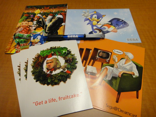 Holiday Cards, Postcards, and SEGA Pen