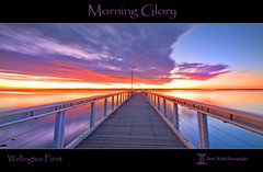 Morning Glory (Beth Wode) Tags: pink orange water sunrise reflections bay piers jetty moretonbay wellingtonpoint bethwode