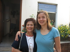Ruth Maust with her host mom