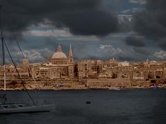 Valletta (Carlo Columba) Tags: city sea cloud geotagged town nuvole mare mt cathedral cloudy malta cupola città sangiovanni sliema valletta cattedrale abitato cocattedrale geo:lat=3590157521511282 geo:lon=14509592056274414