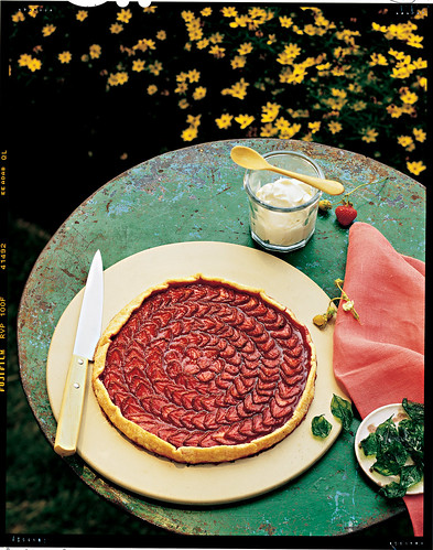 Strawberry Galette with Basil Whipped Cream
