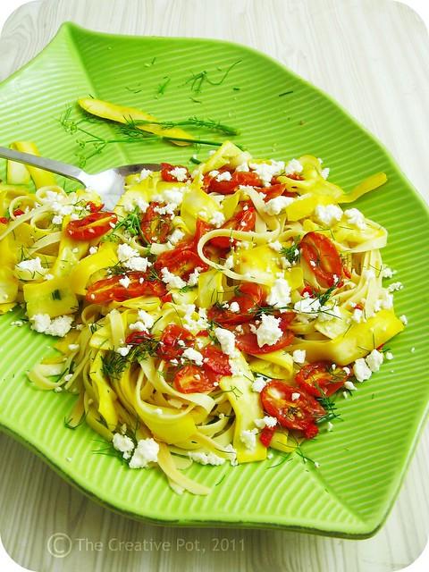 Roasted Tomato, Zucchini & Fennel Tagliatelle c-w