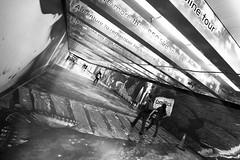 Urban Jungle (clo.a.lpz) Tags: sf sanfrancisco california blackandwhite bw canon artistic tunnel bayarea 365 marketstreet thebay powellstation canon5dmarkii
