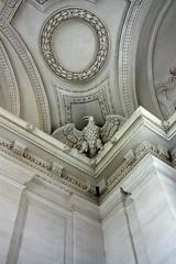 One of the four eagles in the vestibule (Sokleine) Tags: sculpture france castle eagle interior 17thcentury perspective eu carving baroque schloss tp 78 iledefrance chteau aigle yvelines maisonslaffitte environsdeparis