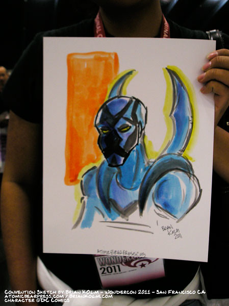 wondercon 2011 comission - Blue Beetle (Jaime)