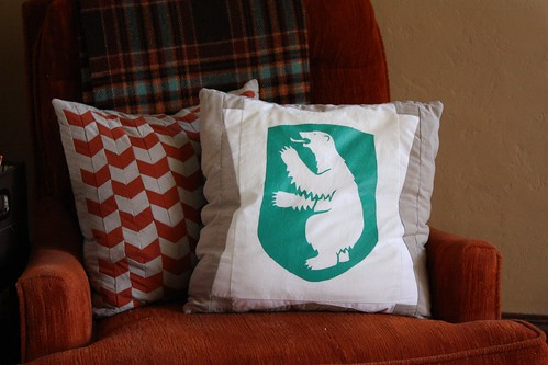 Pillow Covers: Chevron and Greenland Bear