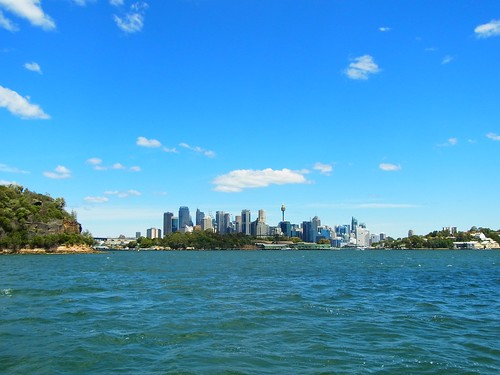 Central Sydney from the Harbor.