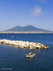 L'azzurro di Napoli (PietroEsse) Tags: panorama landscape boats barche napoli naples vesuvius vesuvio canonpowershots3is