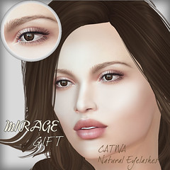 Catwa Lashes Gift (MirageSL) Tags: catwa mesh head eye lashes eyelashes mirage hud applier sl second life