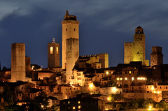 San Gimignano, Tuscany (POGGIO ALLA ROCCA) Tags: medieval hill town city sangimignano san gimignano tuscany siena italy tuscan fortified defense defensive tower high architecture art landmark france europe sky urban travel beautiful tourism famous history architectural cityscape building culture picturesque silhouette vertical nightview
