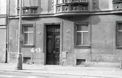 Praha (kaddafi210) Tags: bw blackandwhite monochrome prague czechrepublic summer architecture street streetphoto czech city praha dejvice praktica prakticaplc2 retro vintage old light fomapan foma analog film analogue m42
