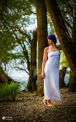 in nature (straab) Tags: strand people rhein mombeach outdoor wasser tina mombach dress white beauty snrbde