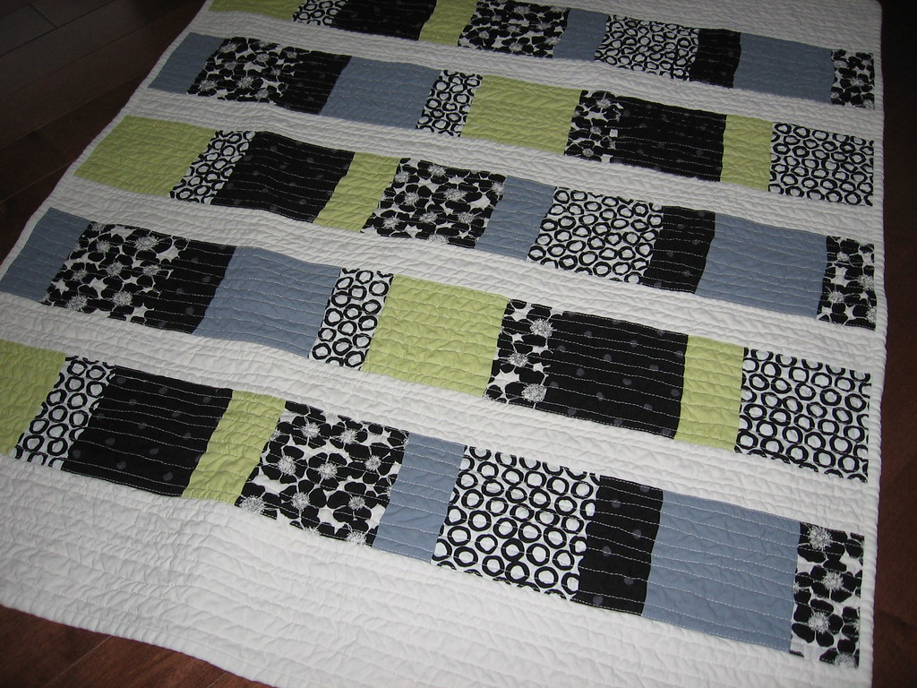 Charm Squares Baby Quilt Front