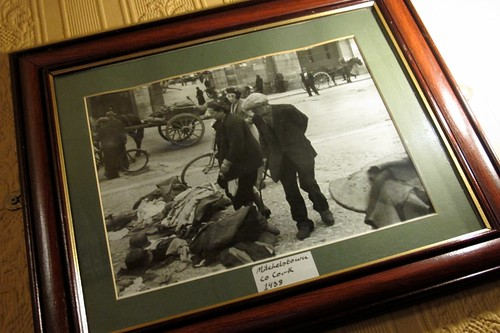 Framed 1938 photograph in The Big Bull's Head