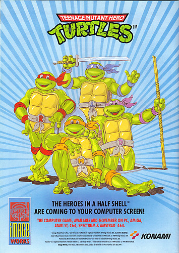 "IMAGE WORKS :: ""TEENAGE MUTANT HERO TURTLES""-'THE HEROES IN A HALF SHELL ARE COMING TO YOUR COMPUTER SCREEN!' (( 1990 ))"