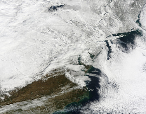Satellite Image of January 27th Snowstorm