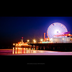 Electrifying (Emmanuel_D.Photography) Tags: california park usa beach night lights pier losangeles santamonica emmanuel starburst astig dasalla