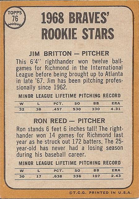 1968 Topps Braves' Rookie Stars