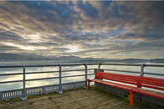 am eiliad... (i.m.j.) Tags: blue sea mountain beach water wales clouds sunrise landscape dawn coast pier cymru wideangle accept beaumaris eryri anglesey ynysmn penmon imj tirlun efs1022mm13545usm canon7d accept2 accept5 accept7 accept3 accept4 accept6 accept8