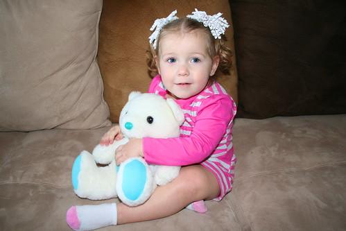 Cheyenne with my Childhood Teddy Bear
