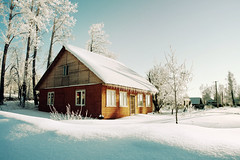 (dSavin) Tags: morning winter shadow white snow weather dawn frost village russia calm explore attic blinds goodmood drapes hang icicles frontdoor privacy appeasement winterlight  simplelife peaceofmind    2011 reflectioninthewindow russianvillage theroof orangehouse        lovelyweather   whitecurtains  snowontheroof     icicleshangingfromtheroof    alotoficicles airmood