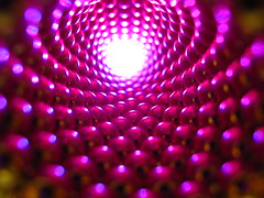 IMG_8746 - light at the end of the tunnel (pt2) (tend2it) Tags: pink light sculpture color reflection art geometric colors ball catchycolors cool bright cone geometry balls tunnel magnets led zen cylinder shape magnet spheres sculptures magnetic buckyballs neodymium neocube magcube cybercube zenmagnets nanodots zenmagnet zenmanagnets