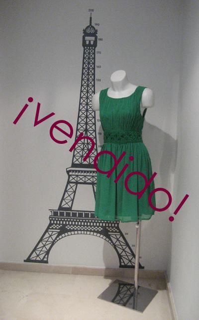 vestido verde vend
