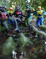 Jaws of Death (Dudesnbots) Tags: toys cobra action attack joe figure crocodile croc eels diorama gi copperhead