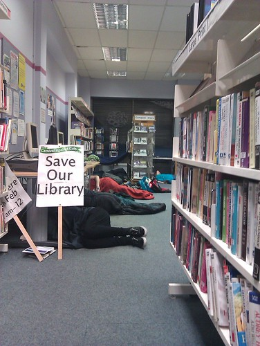 New Cross Library Occupation by Odd_dog, on Flickr