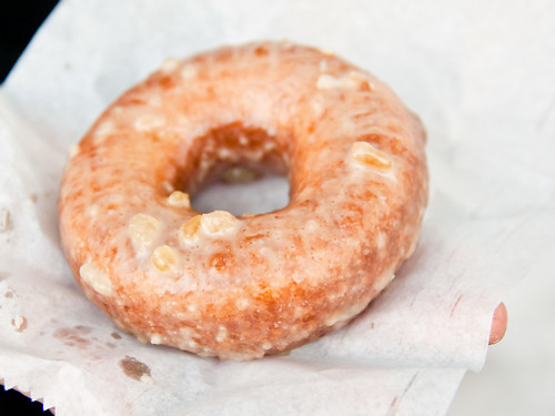 Crystallized ginger doughnut