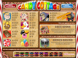 free Candy Cottage slot mini symbols