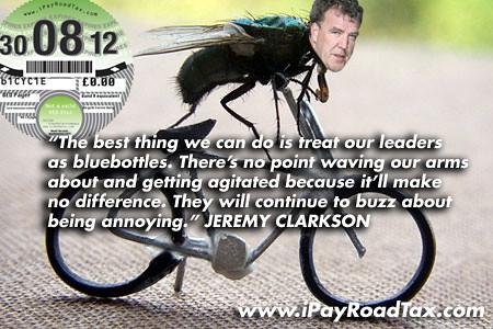 Jeremy Clarkson Rides a Bike