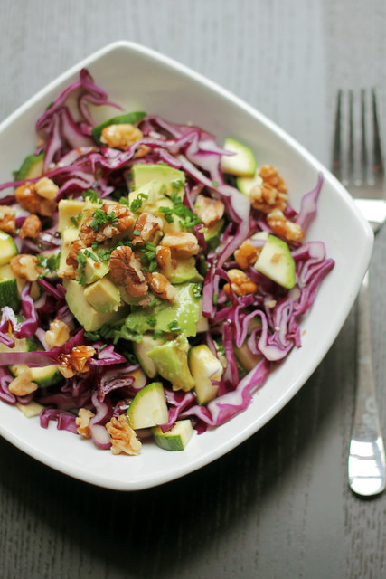 Red Cabbage, Courgettes and Avocado